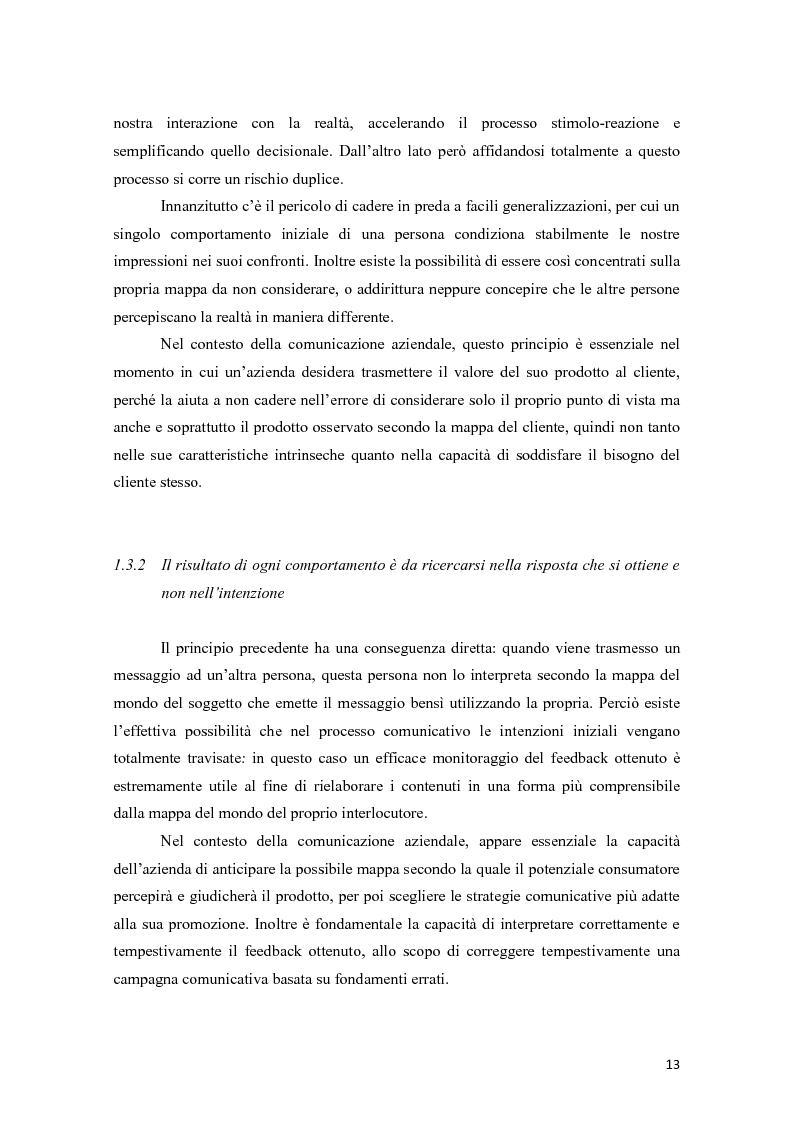 Anteprima della tesi: La programmazione neurolinguistica nella comunicazione aziendale turistica, Pagina 9