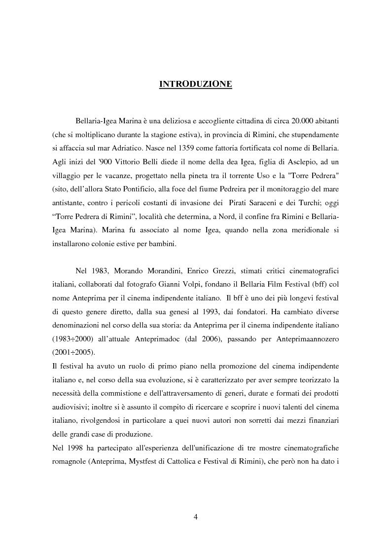 Anteprima della tesi: Tra pornografia ed erotismo: il documentario come strumento didascalico - Il caso Doc Erotika al Bellaria Film Festival, Pagina 1