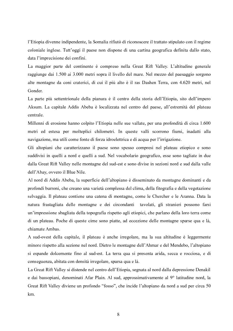 Anteprima della tesi: Analisi della villaggizzazione in Etiopia come processo di territorializzazione, Pagina 6