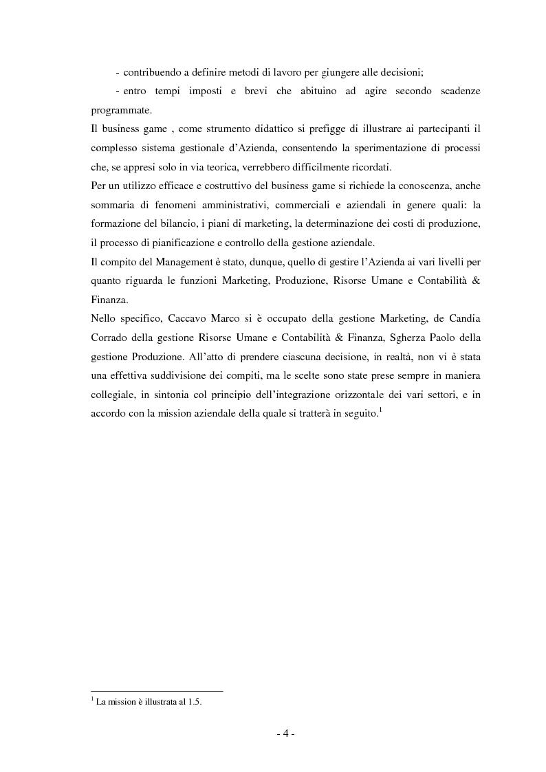 Anteprima della tesi: Business Game, Pagina 2