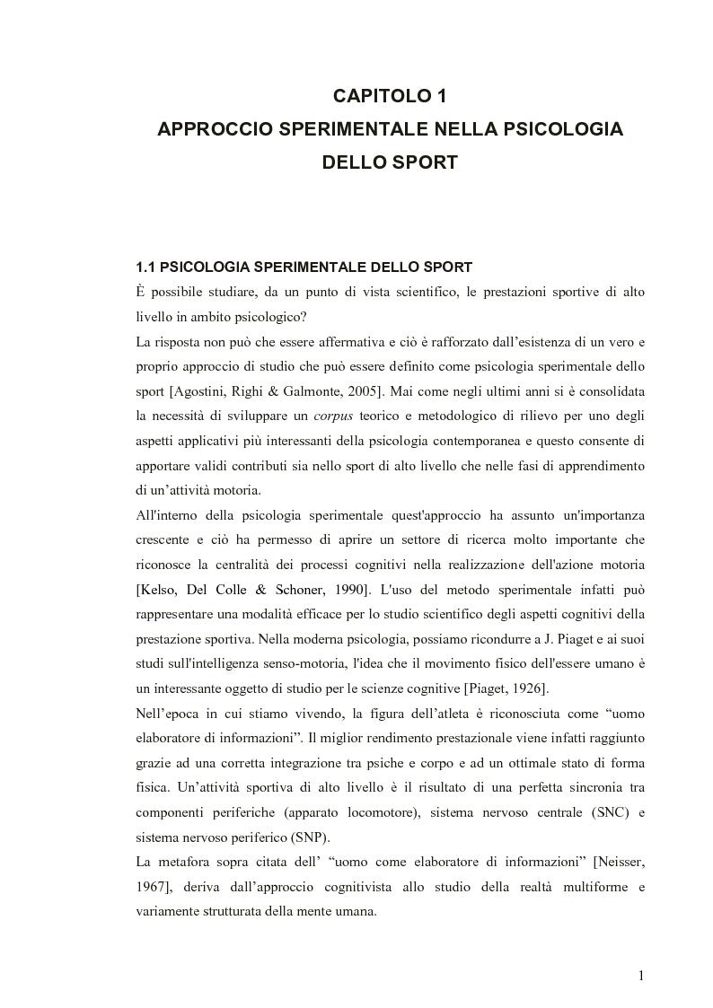 Anteprima della tesi: Applicazione di modelli acustico-visivi per il miglioramento della prestazione nel golf, Pagina 1