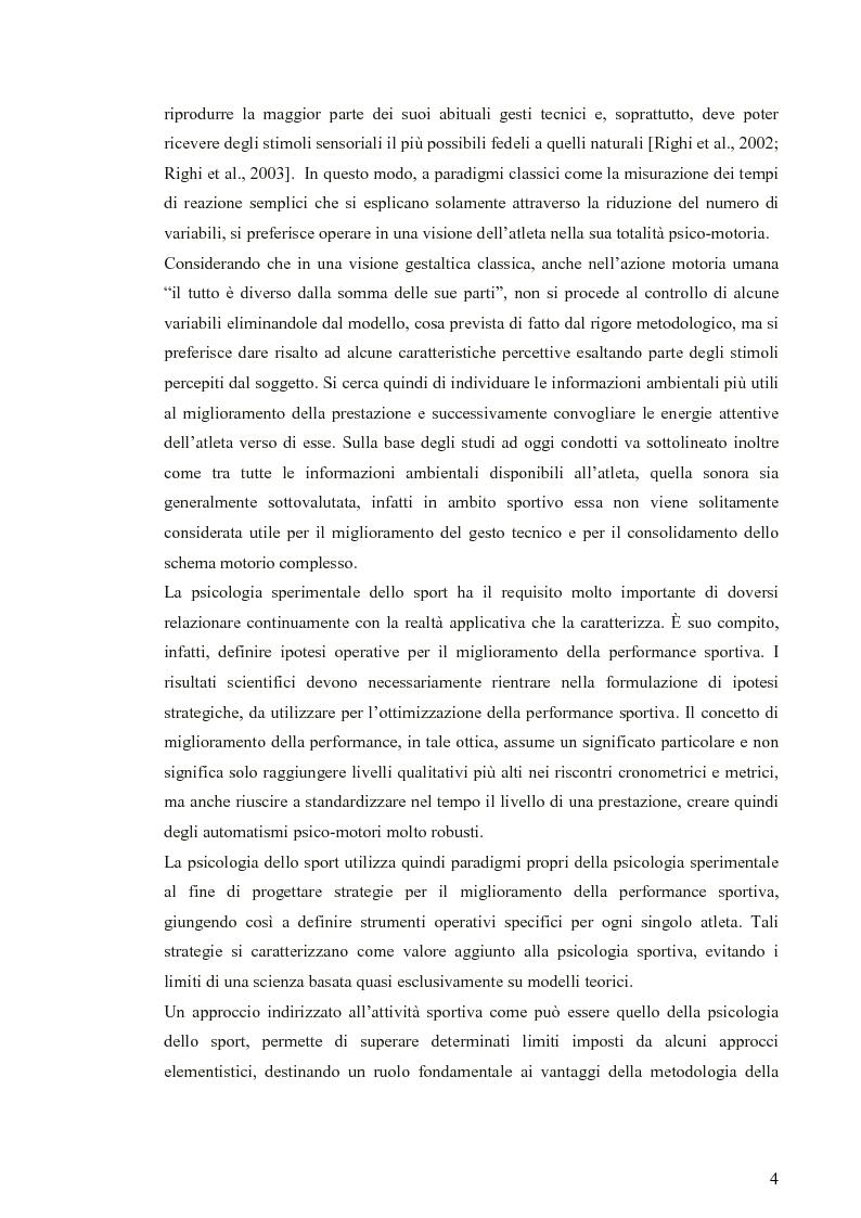 Anteprima della tesi: Applicazione di modelli acustico-visivi per il miglioramento della prestazione nel golf, Pagina 4