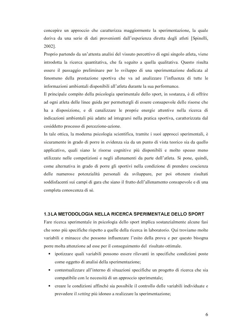 Anteprima della tesi: Applicazione di modelli acustico-visivi per il miglioramento della prestazione nel golf, Pagina 6