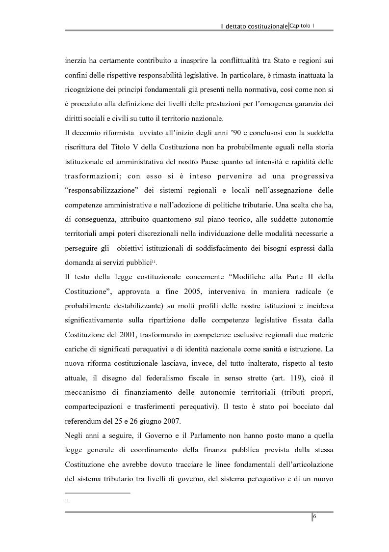 Anteprima della tesi: Federalismo fiscale: i riflessi sugli enti territoriali, Pagina 10