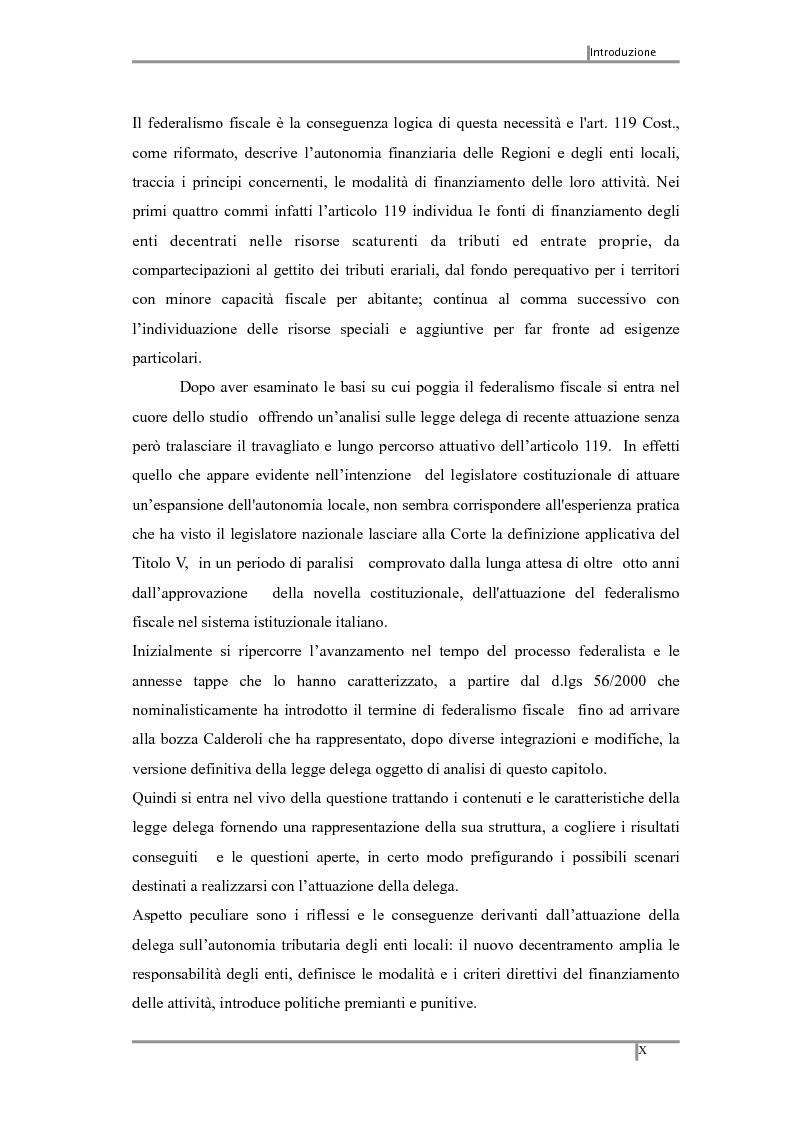 Anteprima della tesi: Federalismo fiscale: i riflessi sugli enti territoriali, Pagina 3