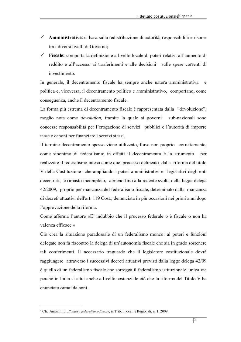 Anteprima della tesi: Federalismo fiscale: i riflessi sugli enti territoriali, Pagina 6