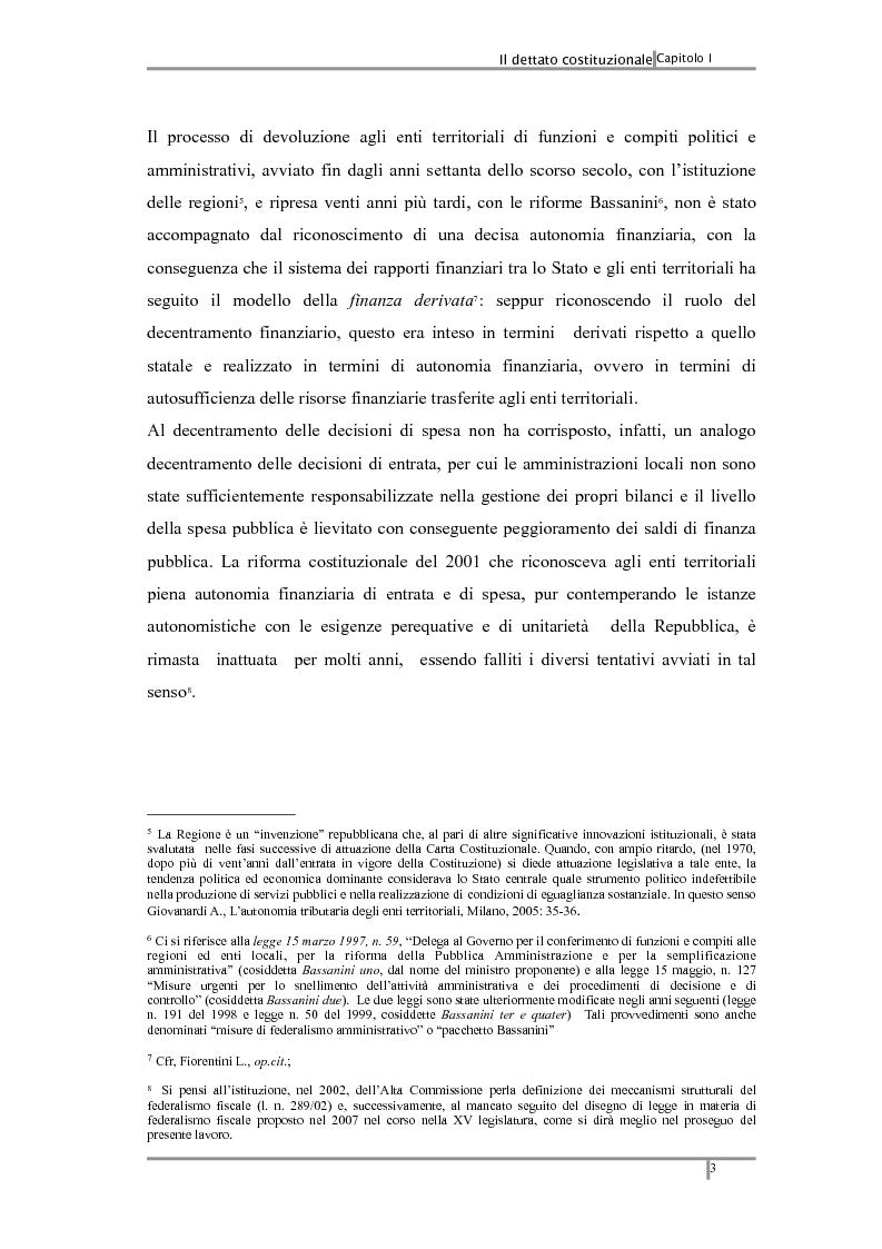 Anteprima della tesi: Federalismo fiscale: i riflessi sugli enti territoriali, Pagina 7