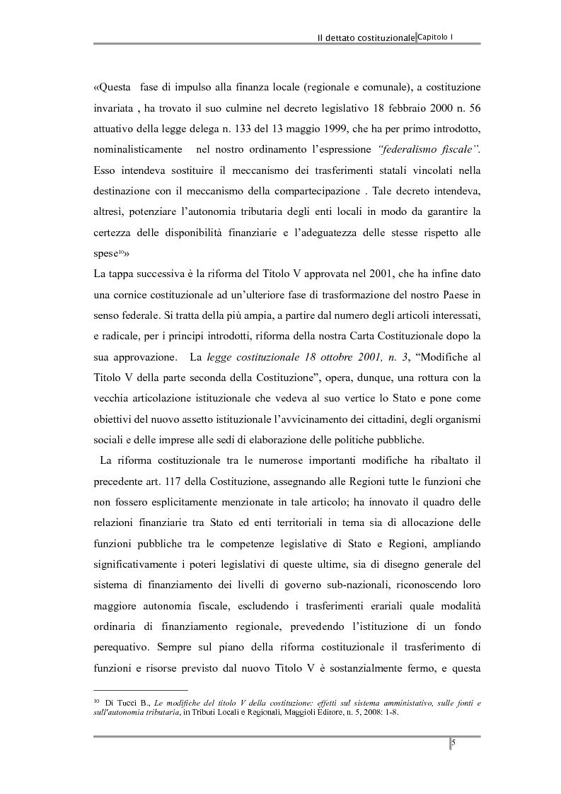Anteprima della tesi: Federalismo fiscale: i riflessi sugli enti territoriali, Pagina 9
