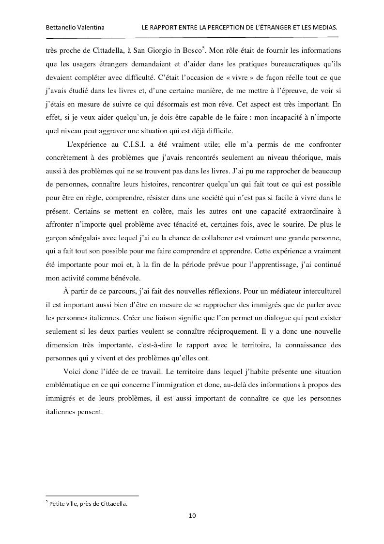Anteprima della tesi: Le rapport entre la perception de l'étranger et les médias, Pagina 4