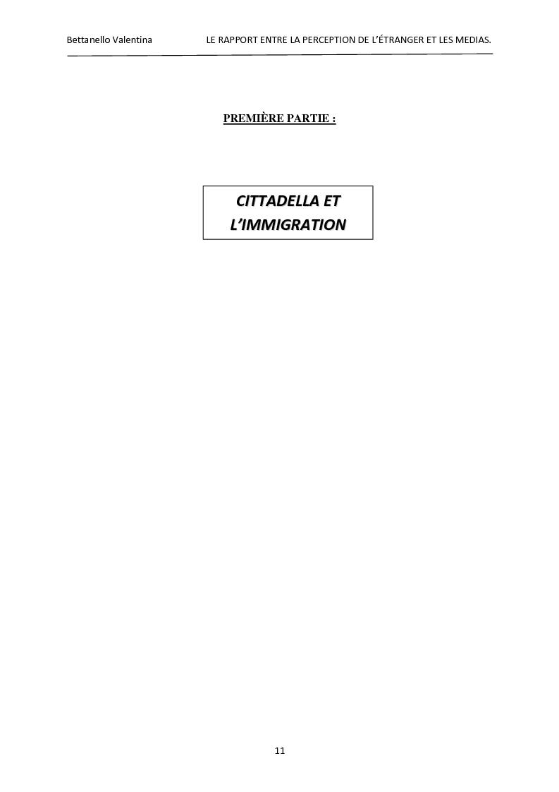 Anteprima della tesi: Le rapport entre la perception de l'étranger et les médias, Pagina 5