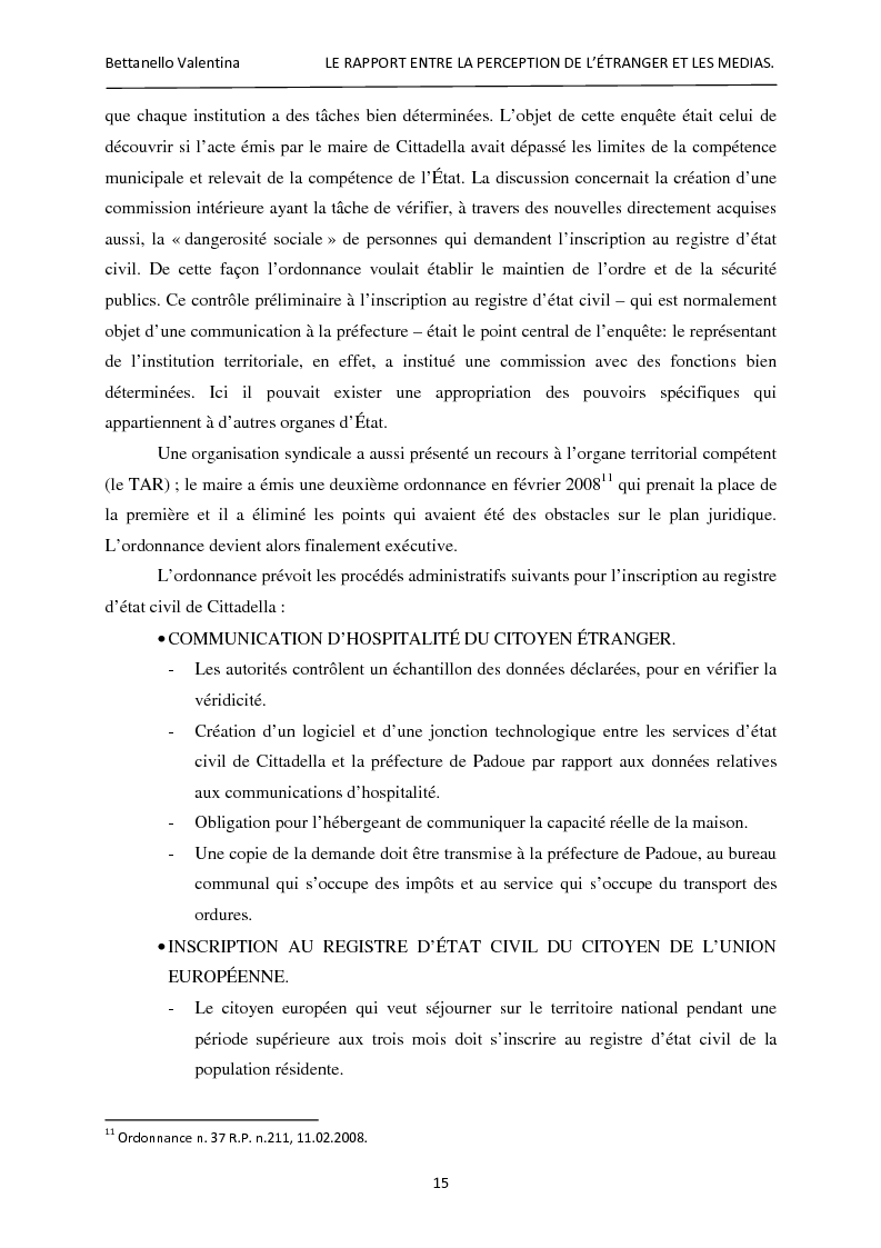 Anteprima della tesi: Le rapport entre la perception de l'étranger et les médias, Pagina 9