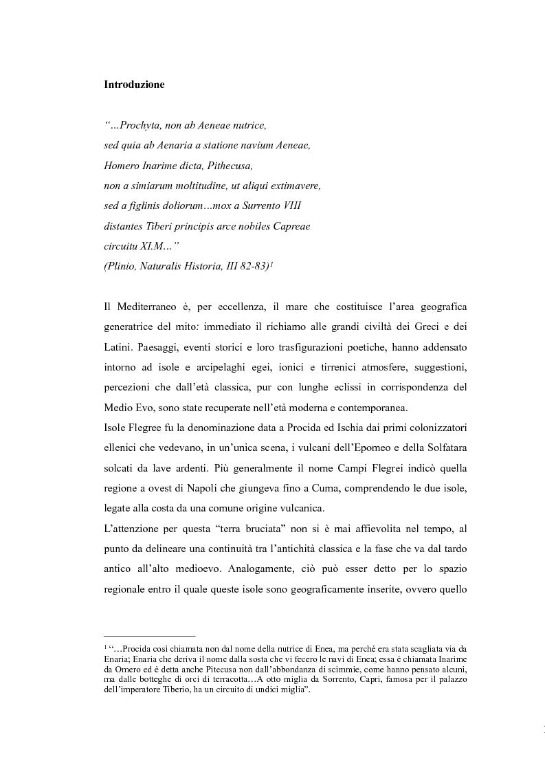 Anteprima della tesi: Topografia medievale dell'isola di Procida (e della zona misenate-montese), Pagina 1