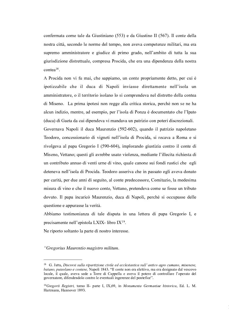 Anteprima della tesi: Topografia medievale dell'isola di Procida (e della zona misenate-montese), Pagina 10