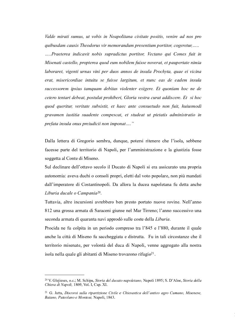 Anteprima della tesi: Topografia medievale dell'isola di Procida (e della zona misenate-montese), Pagina 11