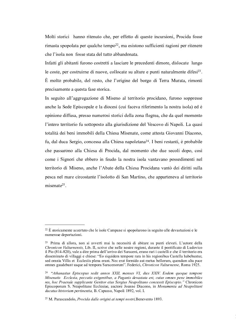 Anteprima della tesi: Topografia medievale dell'isola di Procida (e della zona misenate-montese), Pagina 12