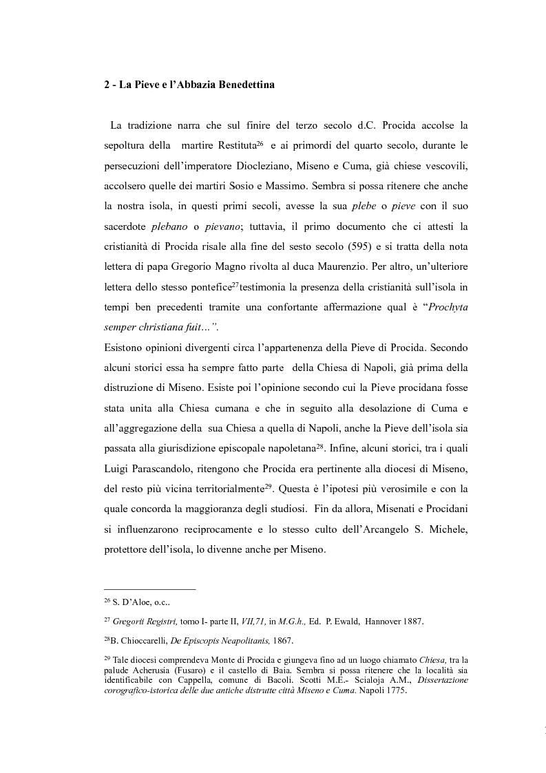 Anteprima della tesi: Topografia medievale dell'isola di Procida (e della zona misenate-montese), Pagina 13