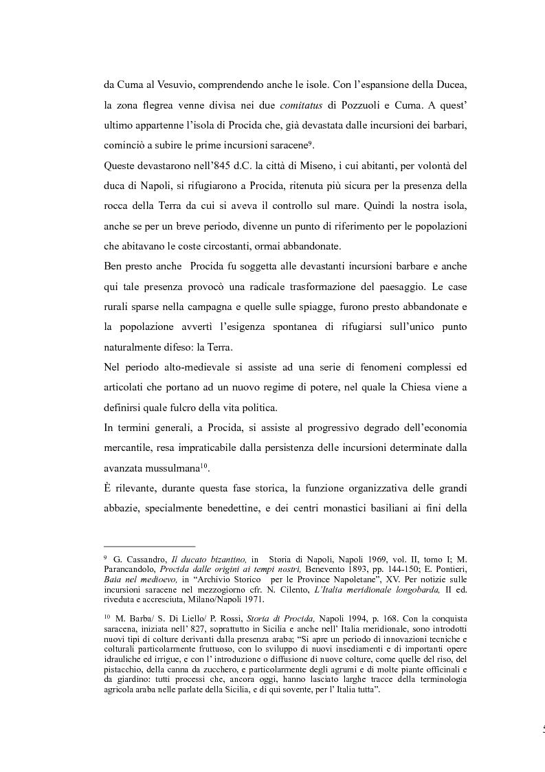 Anteprima della tesi: Topografia medievale dell'isola di Procida (e della zona misenate-montese), Pagina 5