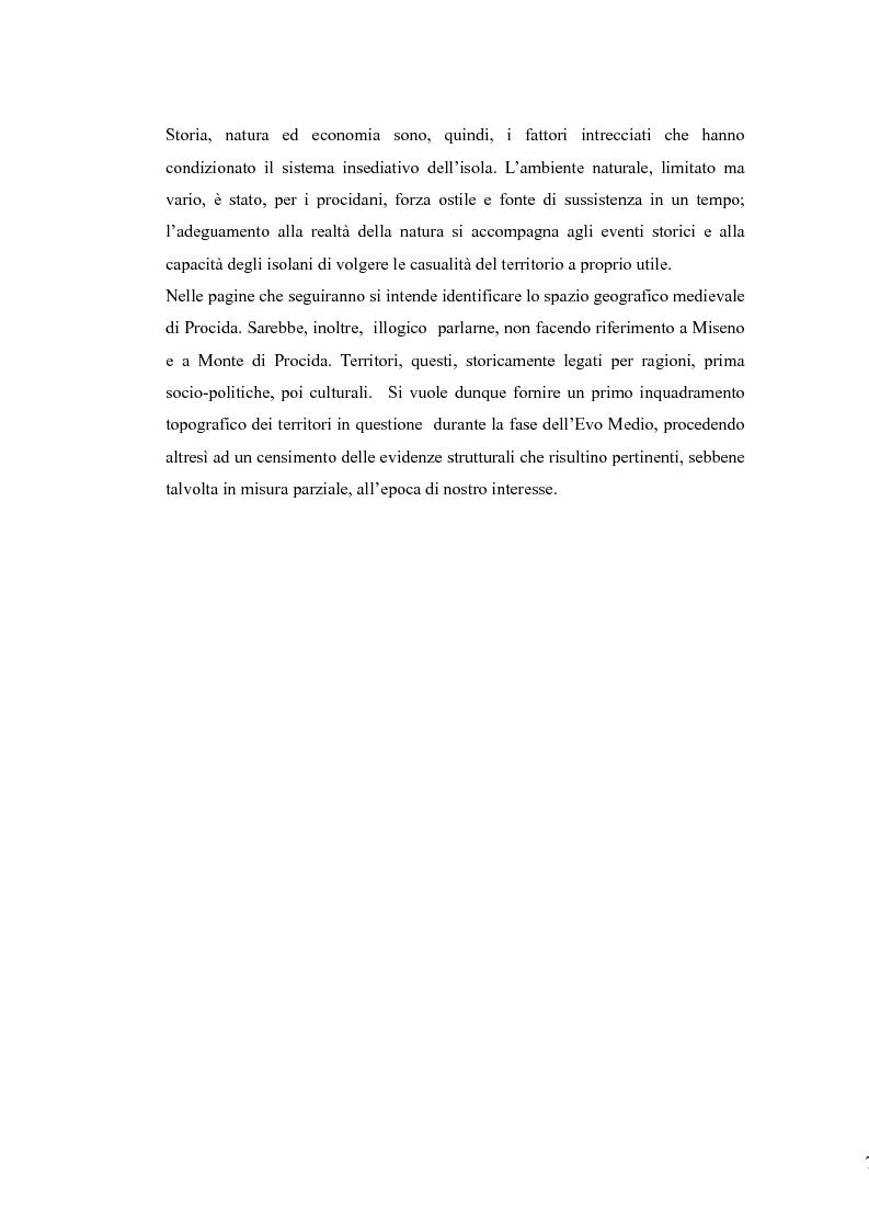 Anteprima della tesi: Topografia medievale dell'isola di Procida (e della zona misenate-montese), Pagina 7