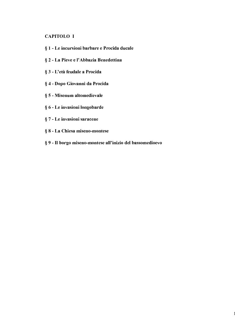 Anteprima della tesi: Topografia medievale dell'isola di Procida (e della zona misenate-montese), Pagina 8