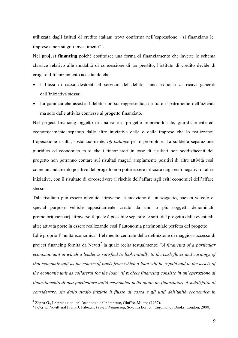 Anteprima della tesi: Applicazione del Project Financing al settore sanitario italiano. Analisi di ''Il Nuovo Complesso Ospedaliero di Vimercate''., Pagina 2