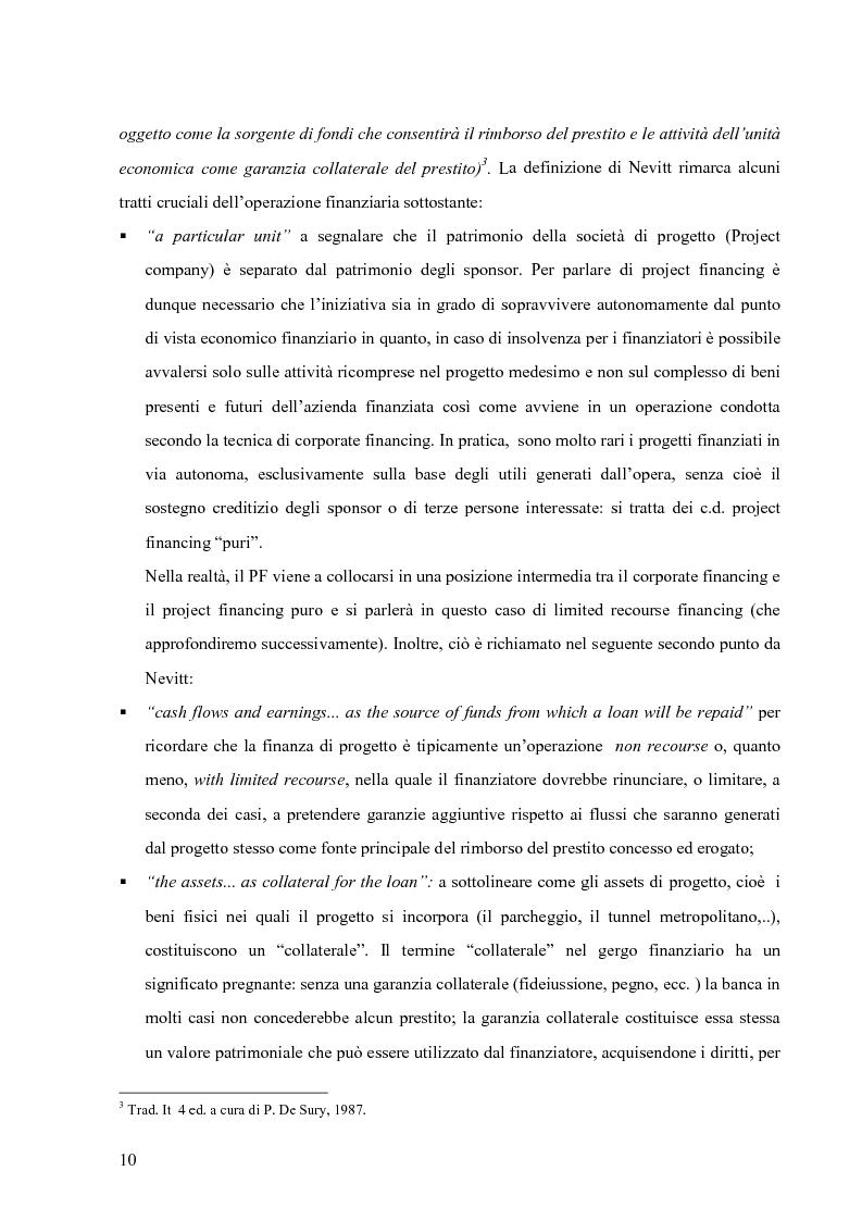 Anteprima della tesi: Applicazione del Project Financing al settore sanitario italiano. Analisi di ''Il Nuovo Complesso Ospedaliero di Vimercate''., Pagina 3