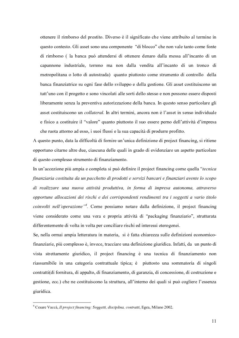 Anteprima della tesi: Applicazione del Project Financing al settore sanitario italiano. Analisi di ''Il Nuovo Complesso Ospedaliero di Vimercate''., Pagina 4