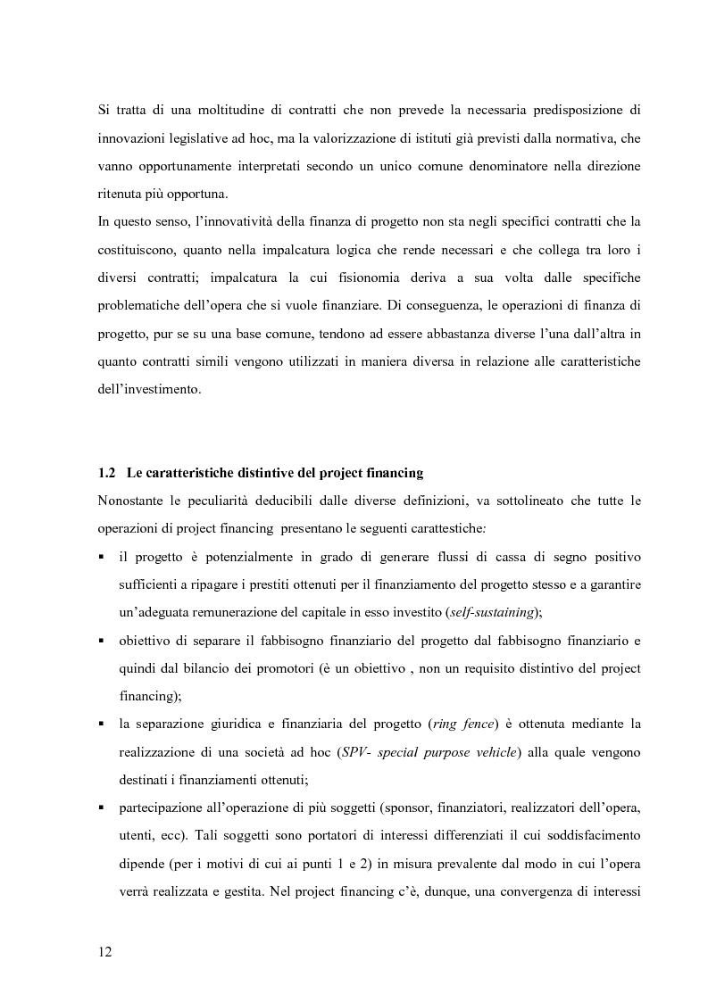 Anteprima della tesi: Applicazione del Project Financing al settore sanitario italiano. Analisi di ''Il Nuovo Complesso Ospedaliero di Vimercate''., Pagina 5