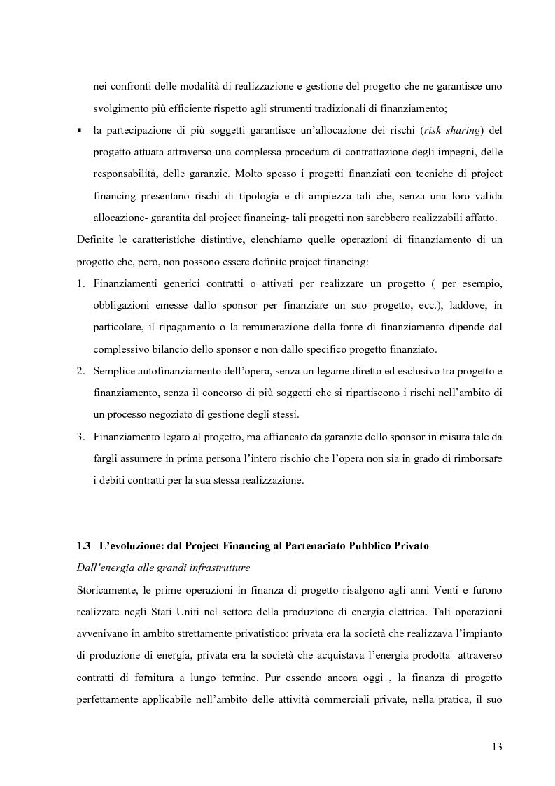 Anteprima della tesi: Applicazione del Project Financing al settore sanitario italiano. Analisi di ''Il Nuovo Complesso Ospedaliero di Vimercate''., Pagina 6