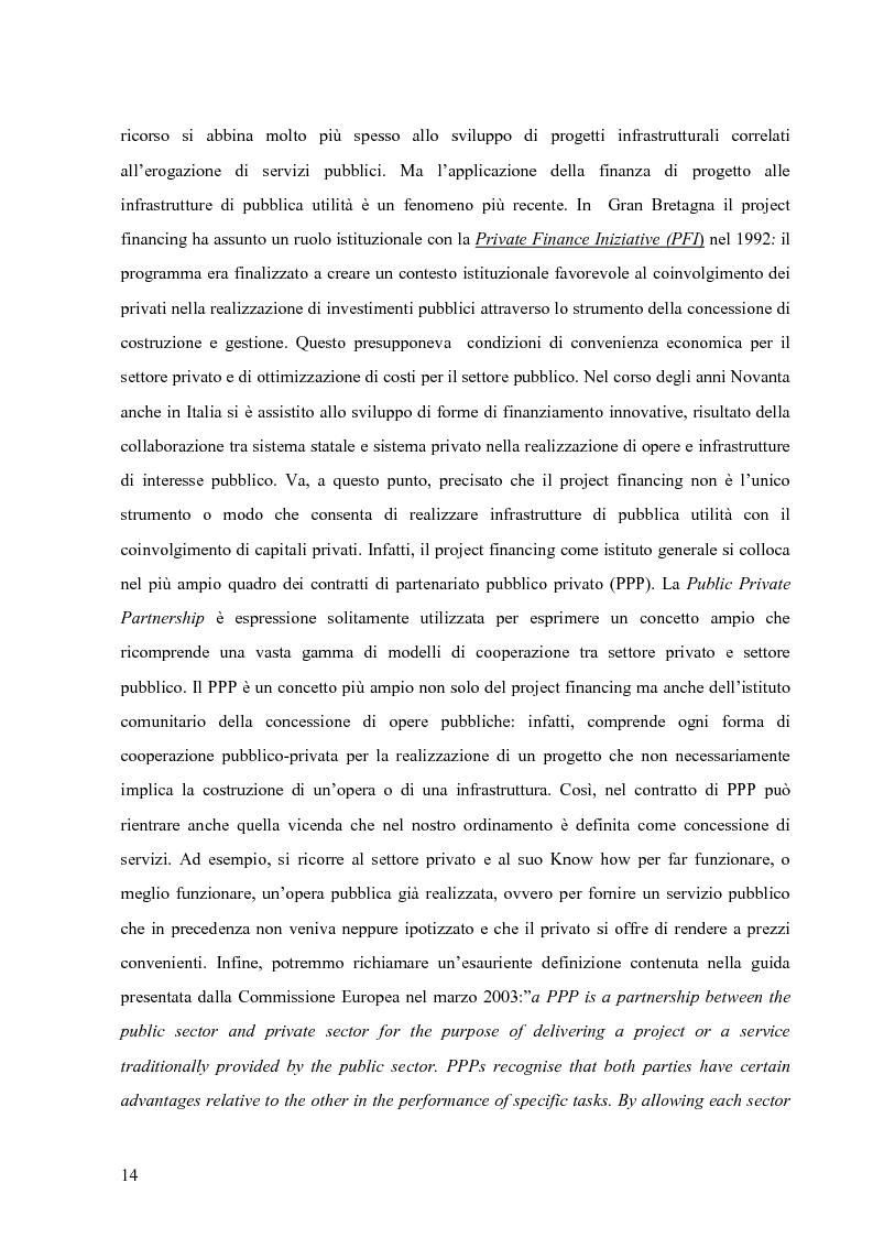 Anteprima della tesi: Applicazione del Project Financing al settore sanitario italiano. Analisi di ''Il Nuovo Complesso Ospedaliero di Vimercate''., Pagina 7