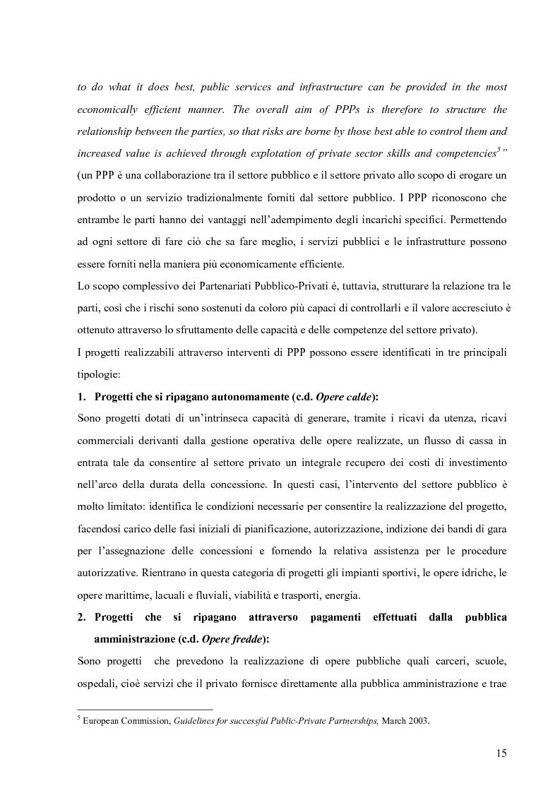 Anteprima della tesi: Applicazione del Project Financing al settore sanitario italiano. Analisi di ''Il Nuovo Complesso Ospedaliero di Vimercate''., Pagina 8