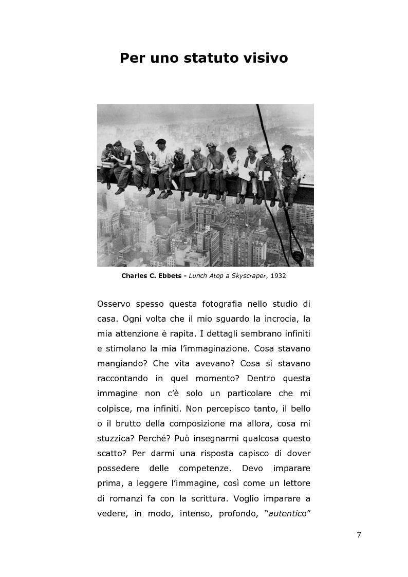 Anteprima della tesi: L'arte come fotografia: educare al silenzio, Pagina 1