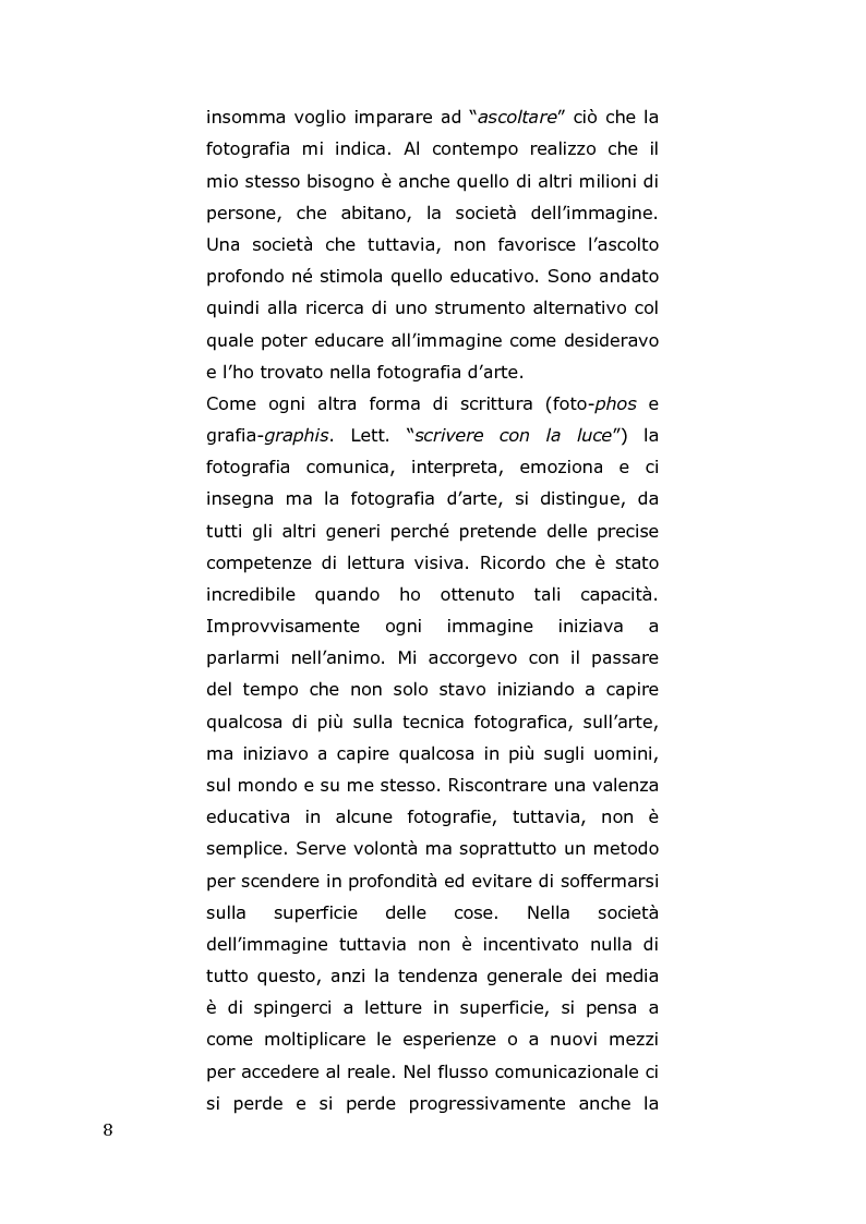 Anteprima della tesi: L'arte come fotografia: educare al silenzio, Pagina 2