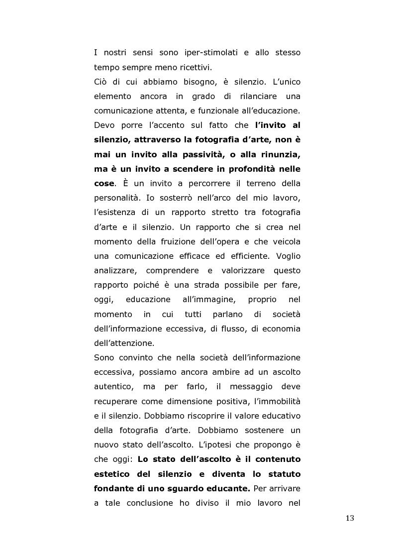 Anteprima della tesi: L'arte come fotografia: educare al silenzio, Pagina 7