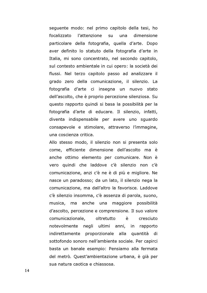 Anteprima della tesi: L'arte come fotografia: educare al silenzio, Pagina 8