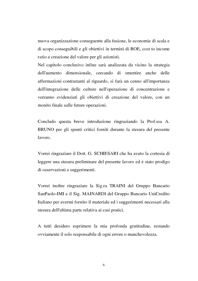 Anteprima della tesi: Determinanti ed obiettivi delle concentrazioni bancarie in Italia e gli effetti nel rapporto con le imprese, Pagina 6