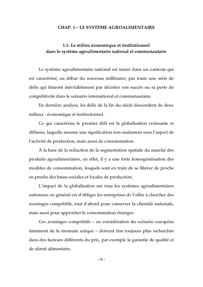 Anteprima della tesi: Les produits typiques pour la promotion du territoire et du tourisme, Pagina 1