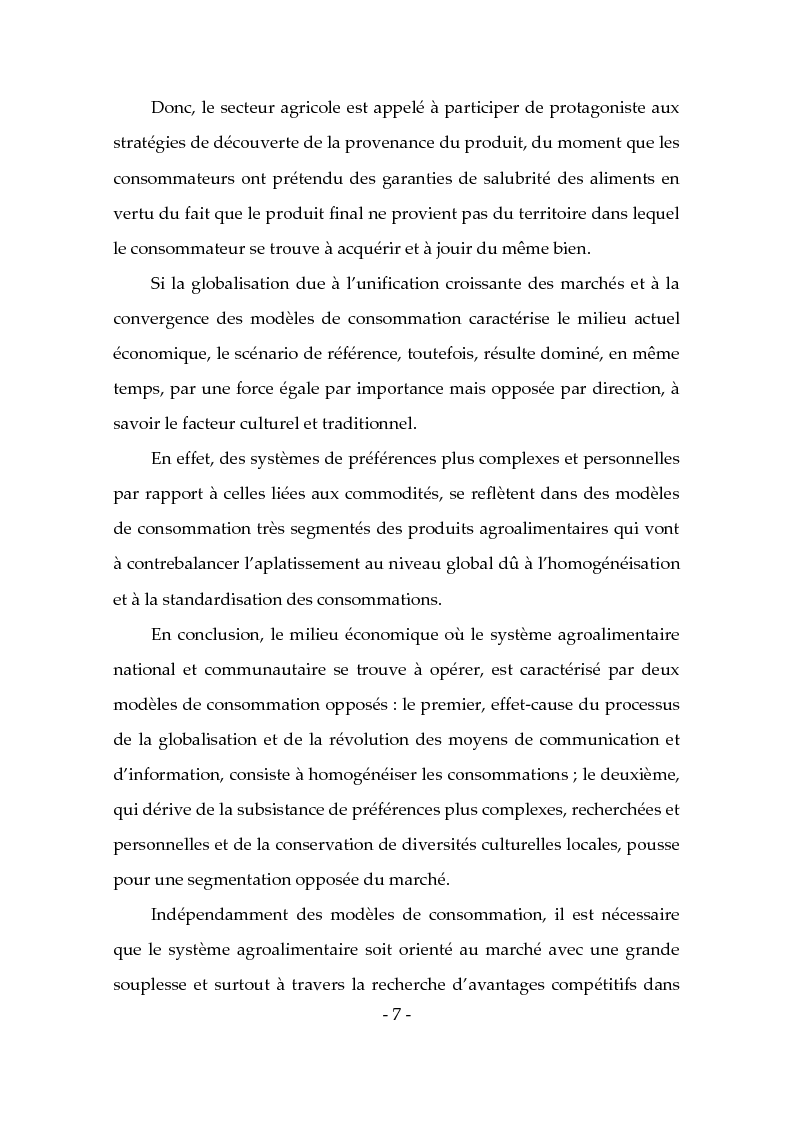 Anteprima della tesi: Les produits typiques pour la promotion du territoire et du tourisme, Pagina 2