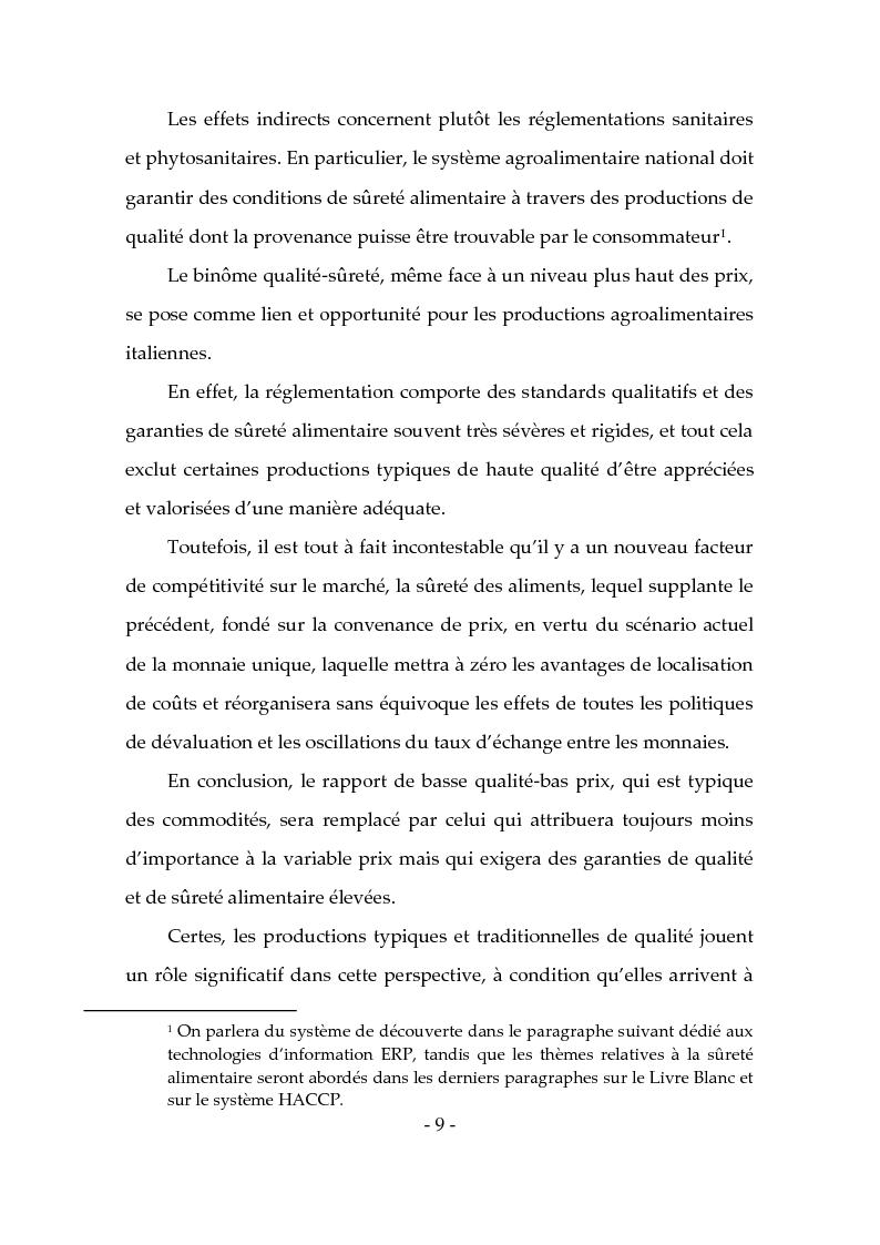 Anteprima della tesi: Les produits typiques pour la promotion du territoire et du tourisme, Pagina 4