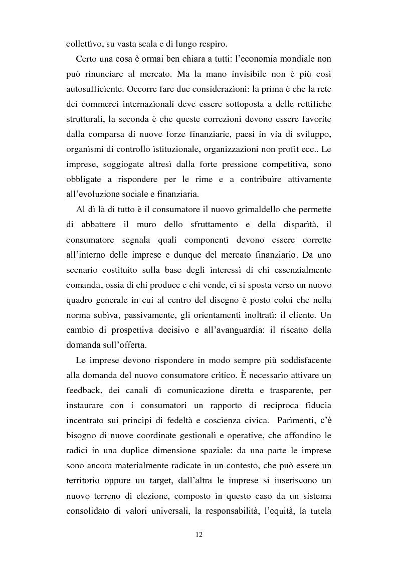 Anteprima della tesi: Dal consumo critico all'impresa responsabile - Rsi: definizione, genesi, tecniche di implementazione e analisi di caso, Pagina 5