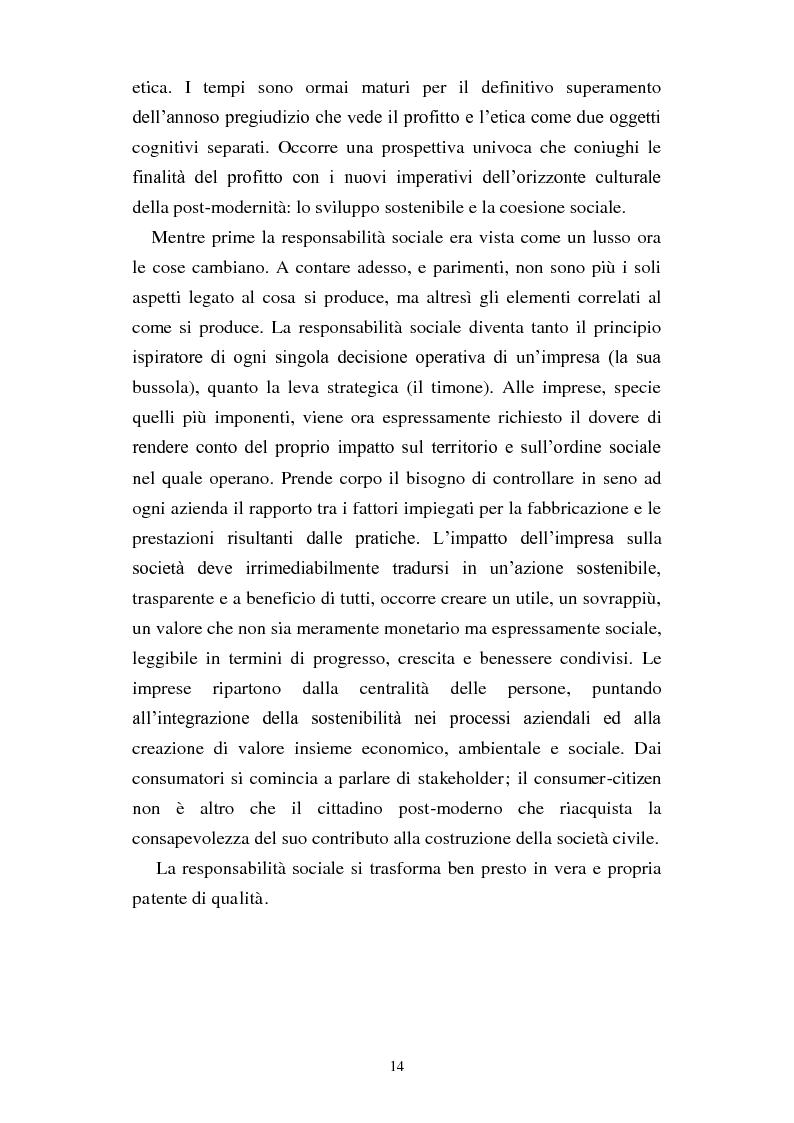 Anteprima della tesi: Dal consumo critico all'impresa responsabile - Rsi: definizione, genesi, tecniche di implementazione e analisi di caso, Pagina 7