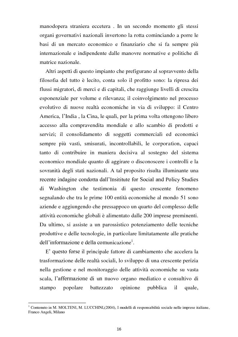 Anteprima della tesi: Dal consumo critico all'impresa responsabile - Rsi: definizione, genesi, tecniche di implementazione e analisi di caso, Pagina 9