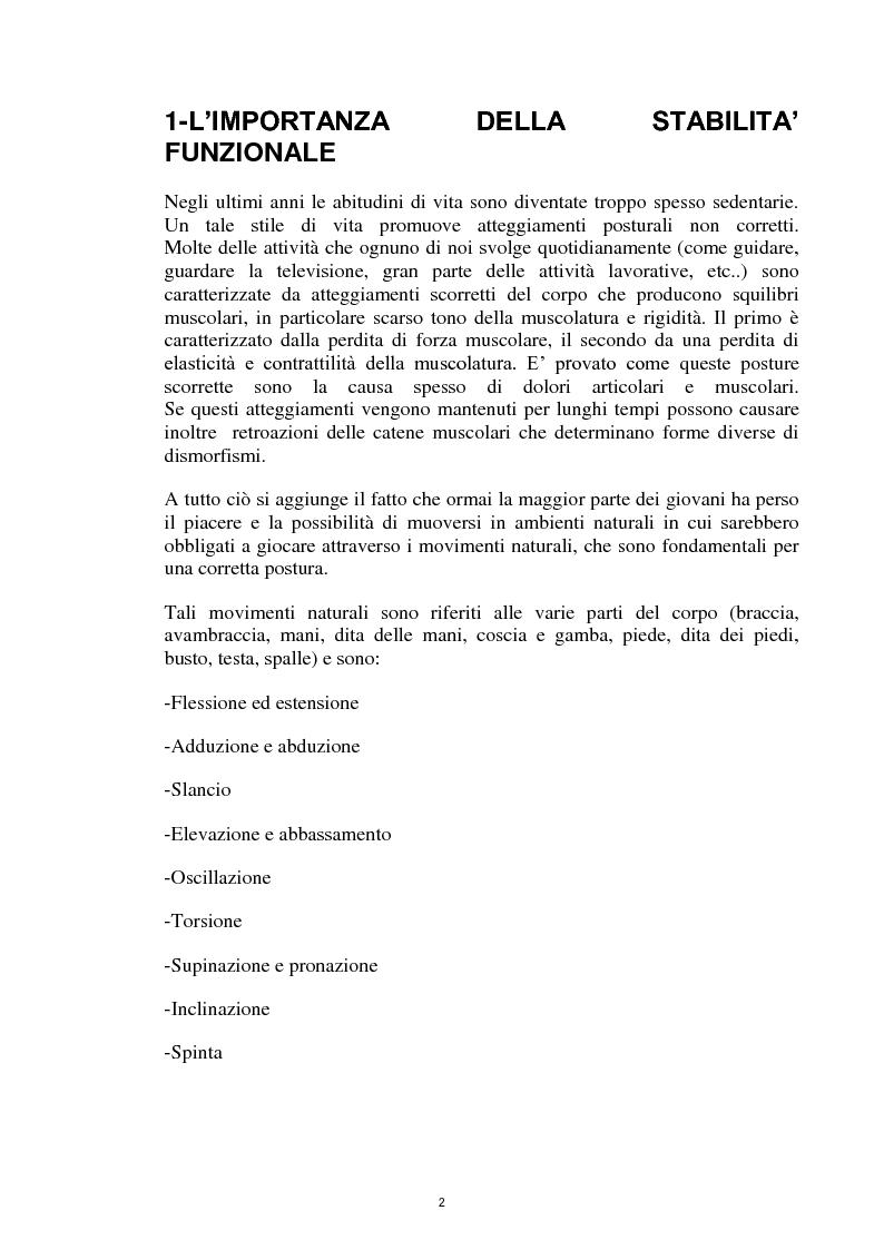 Anteprima della tesi: La Core Stability nel gioco del calcio: metodiche applicative, Pagina 2