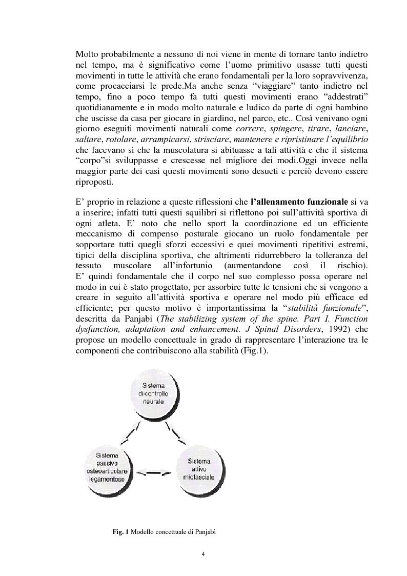 Anteprima della tesi: La Core Stability nel gioco del calcio: metodiche applicative, Pagina 4