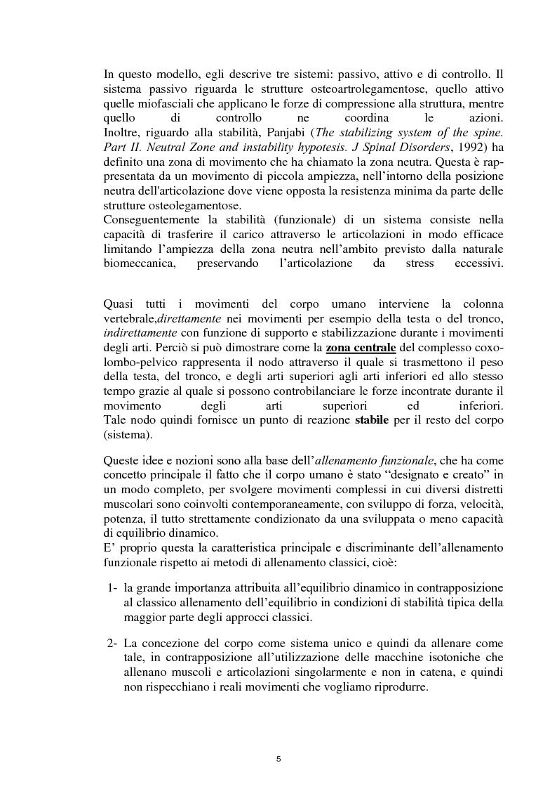 Anteprima della tesi: La Core Stability nel gioco del calcio: metodiche applicative, Pagina 5