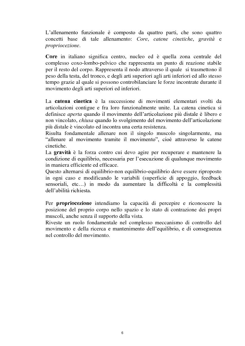 Anteprima della tesi: La Core Stability nel gioco del calcio: metodiche applicative, Pagina 6