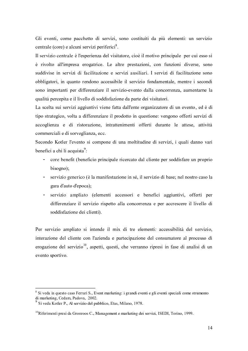 Anteprima della tesi: La comunicazione negli eventi sportivi: studio di tre casi di gare d'auto d'epoca, Pagina 10