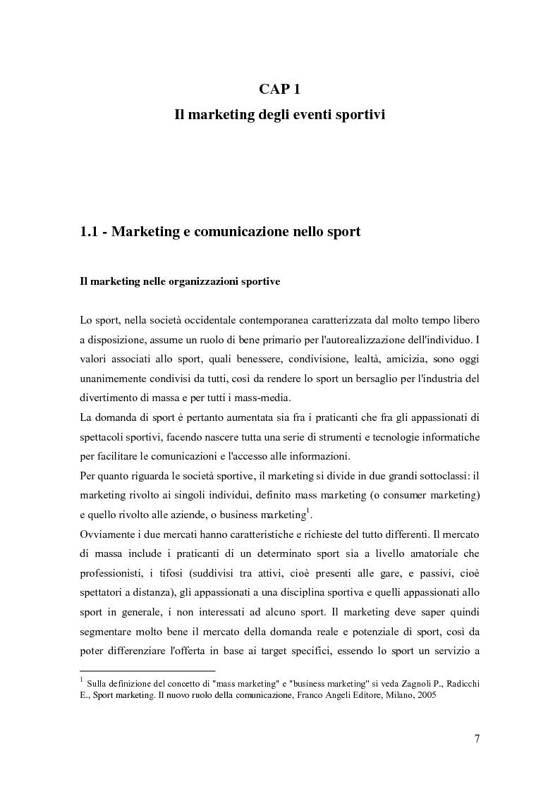 Anteprima della tesi: La comunicazione negli eventi sportivi: studio di tre casi di gare d'auto d'epoca, Pagina 3