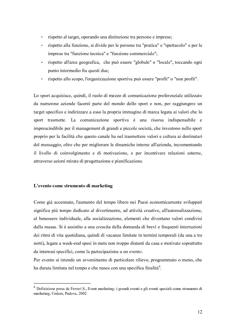 Anteprima della tesi: La comunicazione negli eventi sportivi: studio di tre casi di gare d'auto d'epoca, Pagina 8