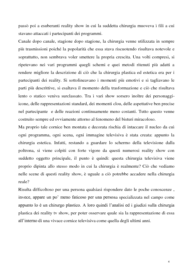Anteprima della tesi: La concezione della chirurgia plastica nei reality show, Pagina 2