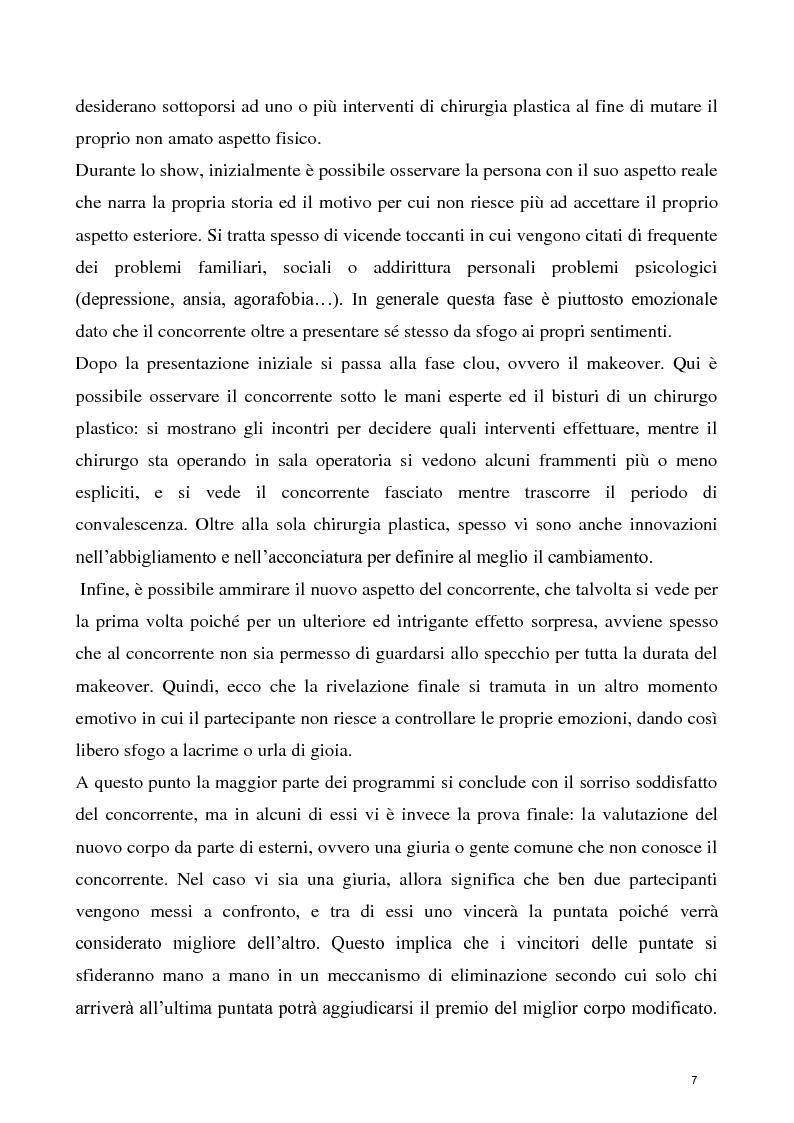 Anteprima della tesi: La concezione della chirurgia plastica nei reality show, Pagina 5